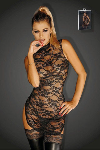 Lace mini-dress