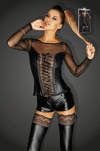 Power wet look Corset top