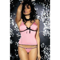 Pink Camisole Top And G-string - Pink Camisole Top And G-string