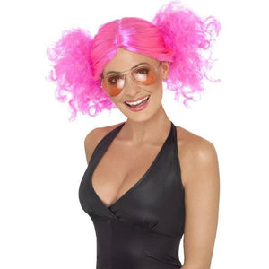 Pink Costume Wig - 1980's Bunches Pink Costume Wig