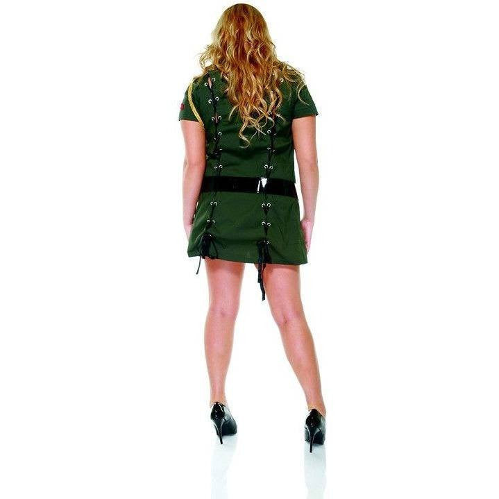 Army Seductress costume plus size for <span class=money>€39.95 EUR</span> at Flirtywomen