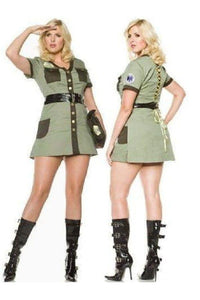 Plus size Police fancy dress costume