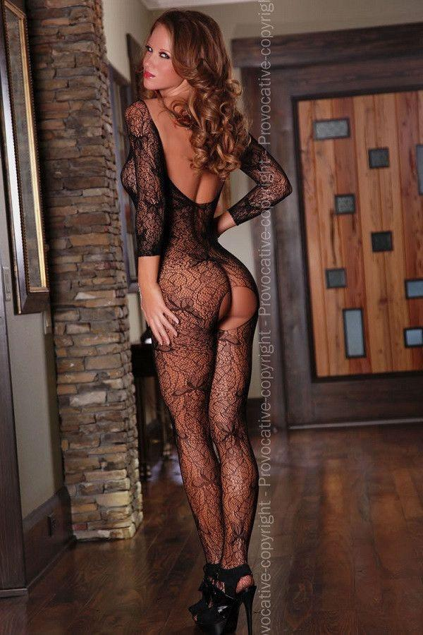 Long sleeve stretchy bodystocking