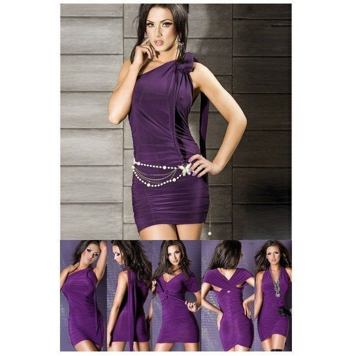 Purple Club Wear Dress - Purple Club Wear Dress