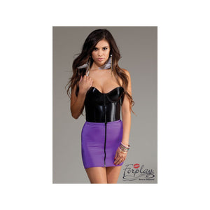 Purple Mini Skirt - Purple Mini Skirt
