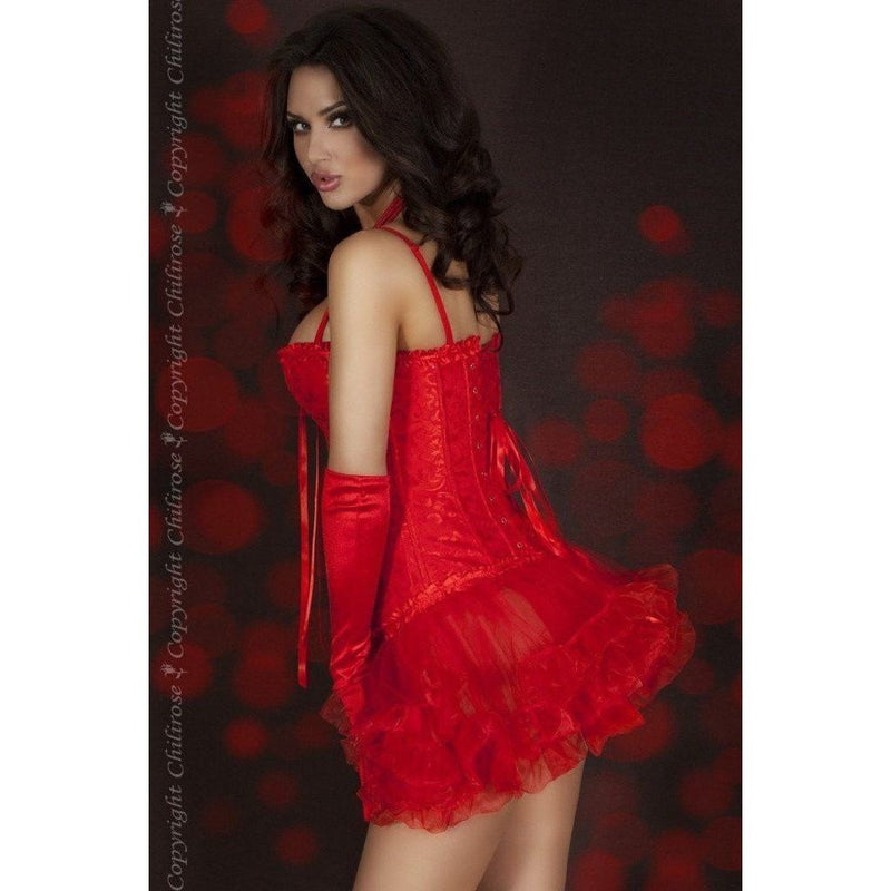 Red Burlesque Corset - Red Burlesque Corset