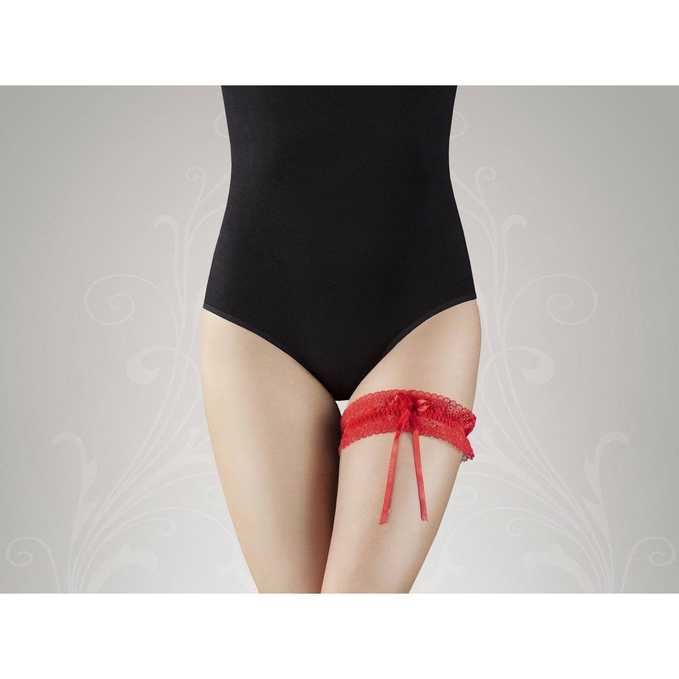 Red lace leg garter G-001 for <span class=money>€4.95 EUR</span> at Flirtywomen