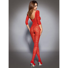 Red long sleeve bodystocking for <span class=money>€22.95 EUR</span> at Flirtywomen