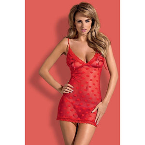 Red Sheer Nightdress - Red Sheer Nightdress Lovia