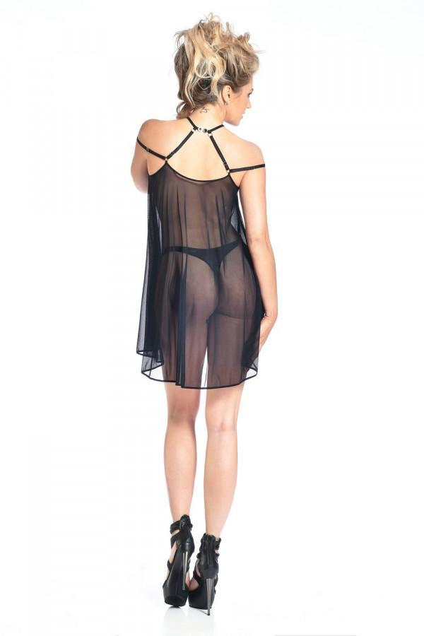 Black Mesh Nightdress Belladonna