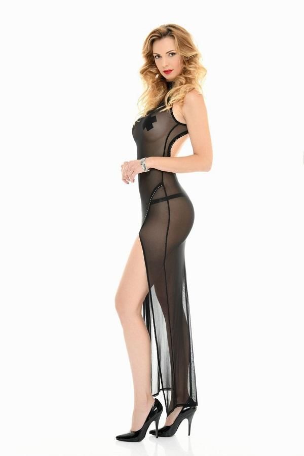 Long Mesh Robe Poussycat