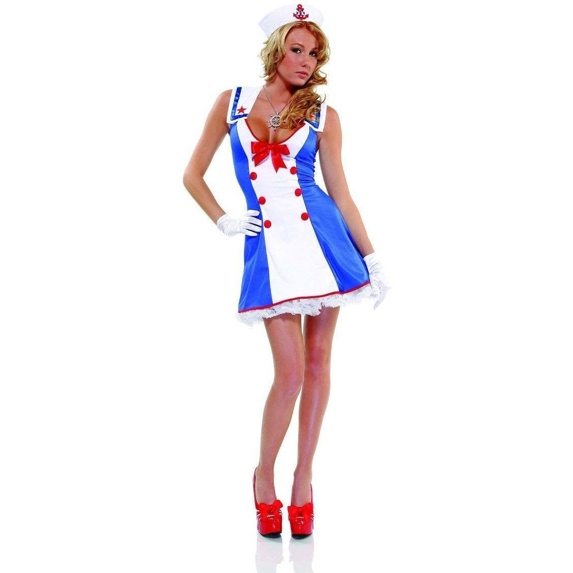 Patriotic sailor fancy dress costume for <span class=money>€39.95 EUR</span> at Flirtywomen