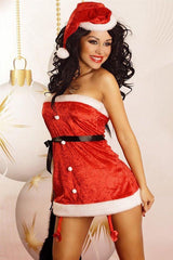 Sexy Santa dress with a Santa cap