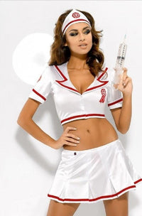 Nurse costume top and skirt set