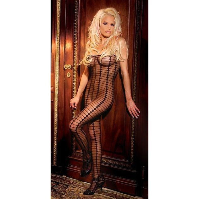 Sheer open crotch bodystocking - Flirtywomen