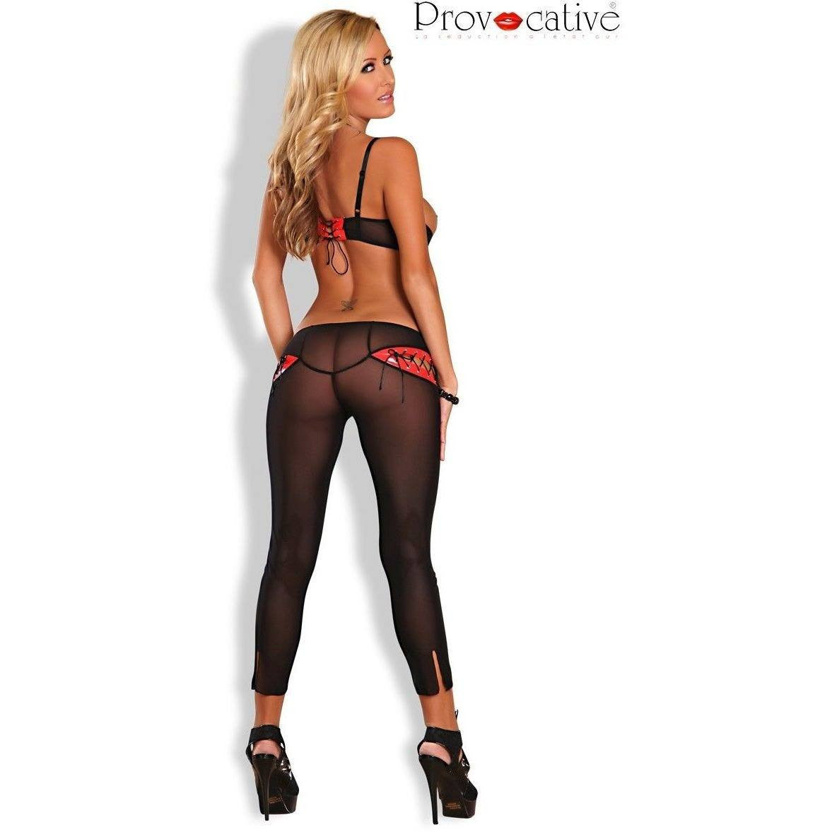 Shelf bra with mesh trouser pants for <span class=money>€29.95 EUR</span> at Flirtywomen