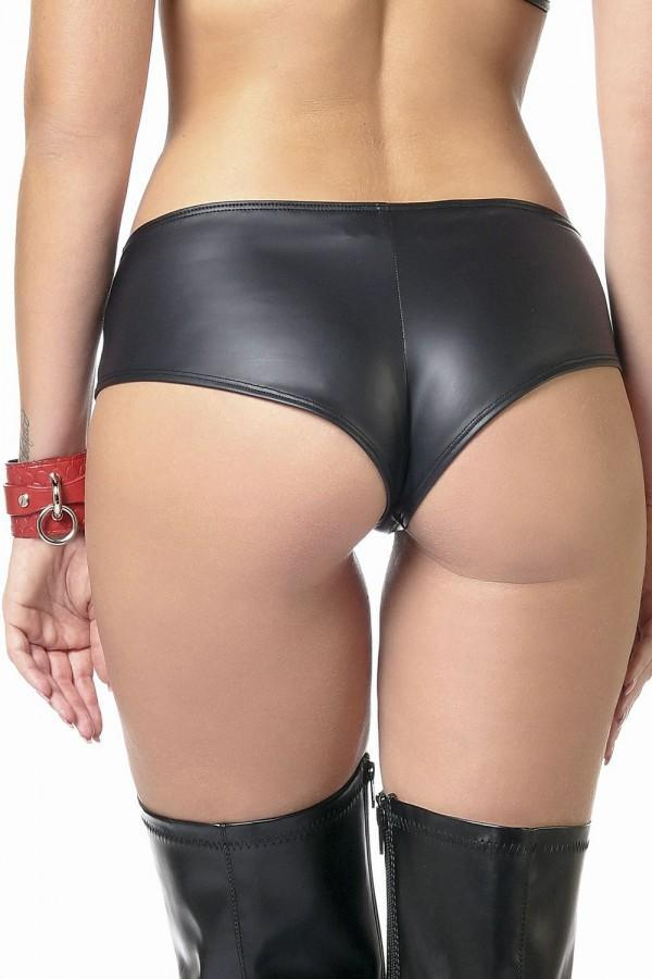 Black PU brief Beatrice