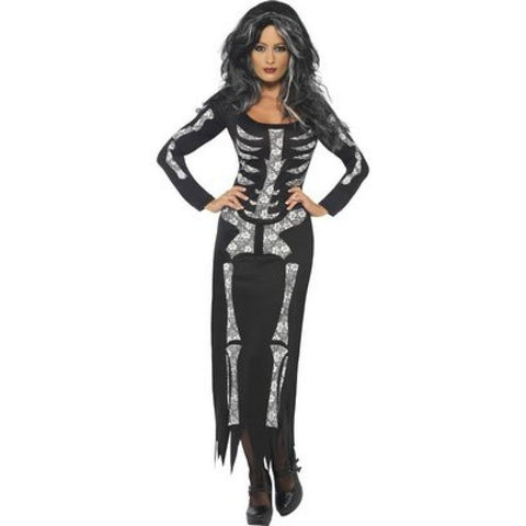 Skeleton dress fancy dress costume for <span class=money>€19.95 EUR</span> at Flirtywomen