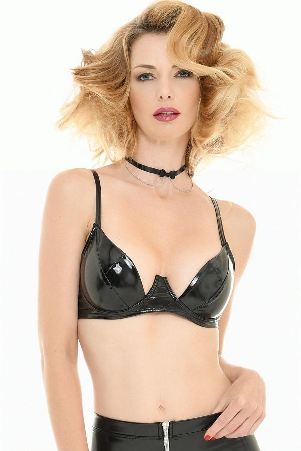 Black Vinyl Bra Sam