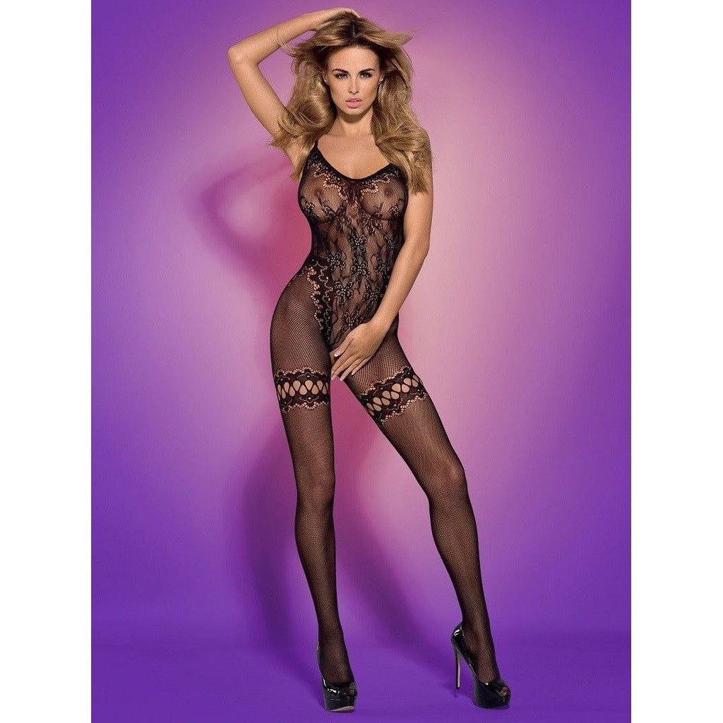 Spicy knit-wear bodystocking F213 - Flirtywomen