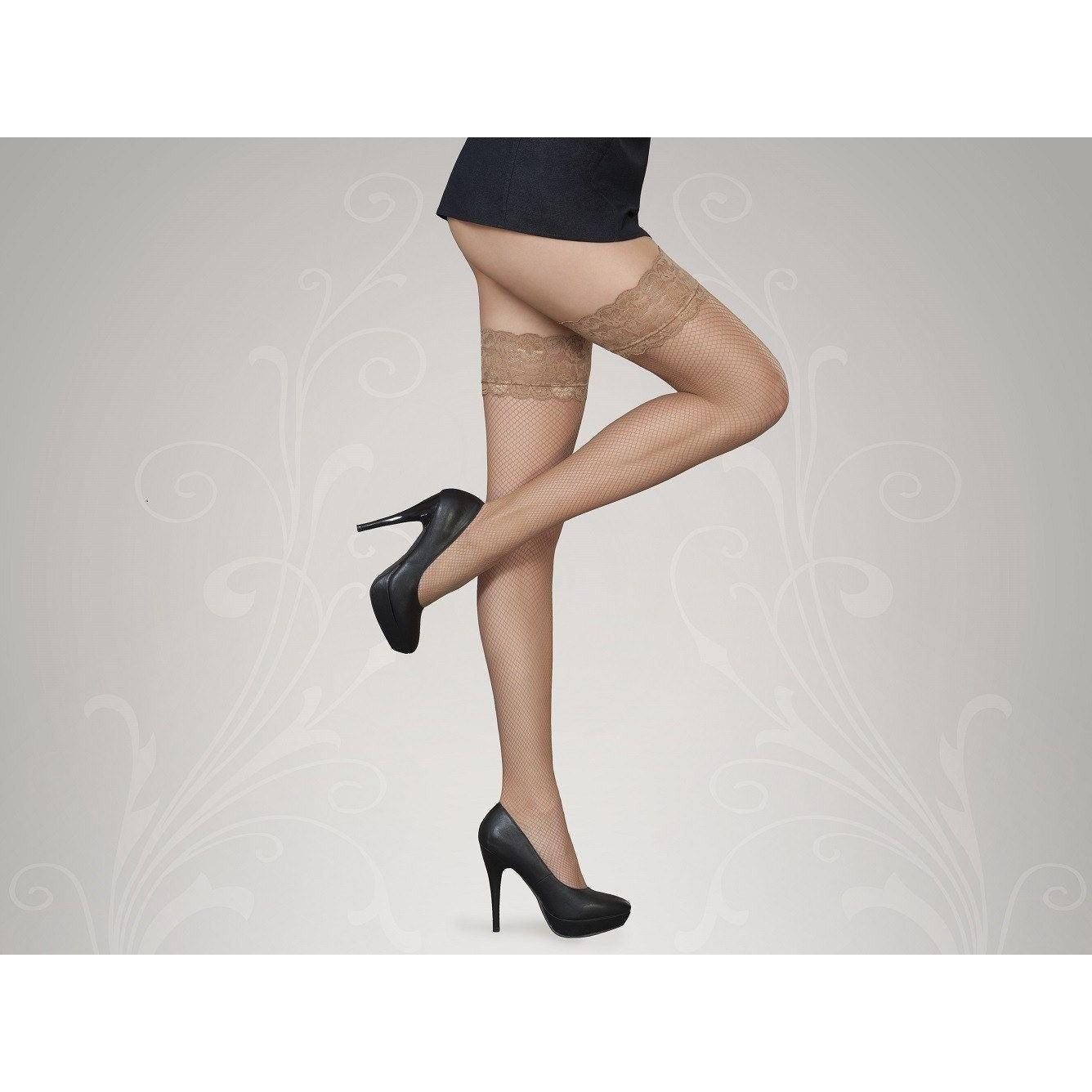 Antilope fishnet thigh high stockings for <span class=money>€6.95 EUR</span> at Flirtywomen