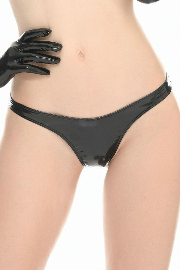 Vinyl Black thong Sam