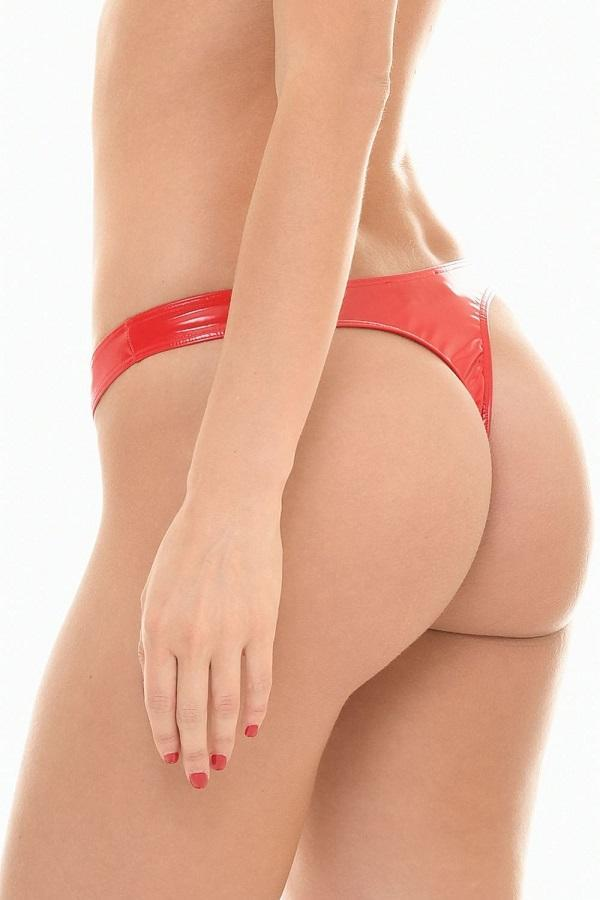 Vinyl Red thong Sam