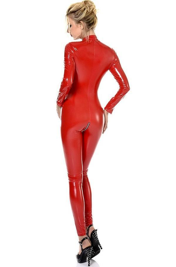 Red Vinyl Cat-suit Sweety