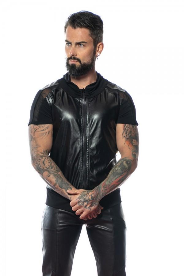 Man`s faux leather t-shirt Mae