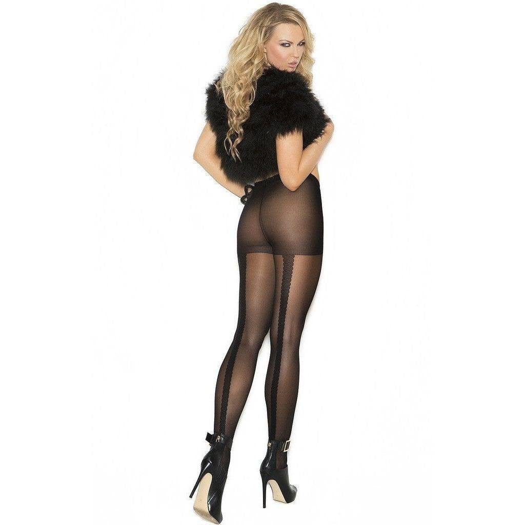 Tights - Lace Back Seam Tights