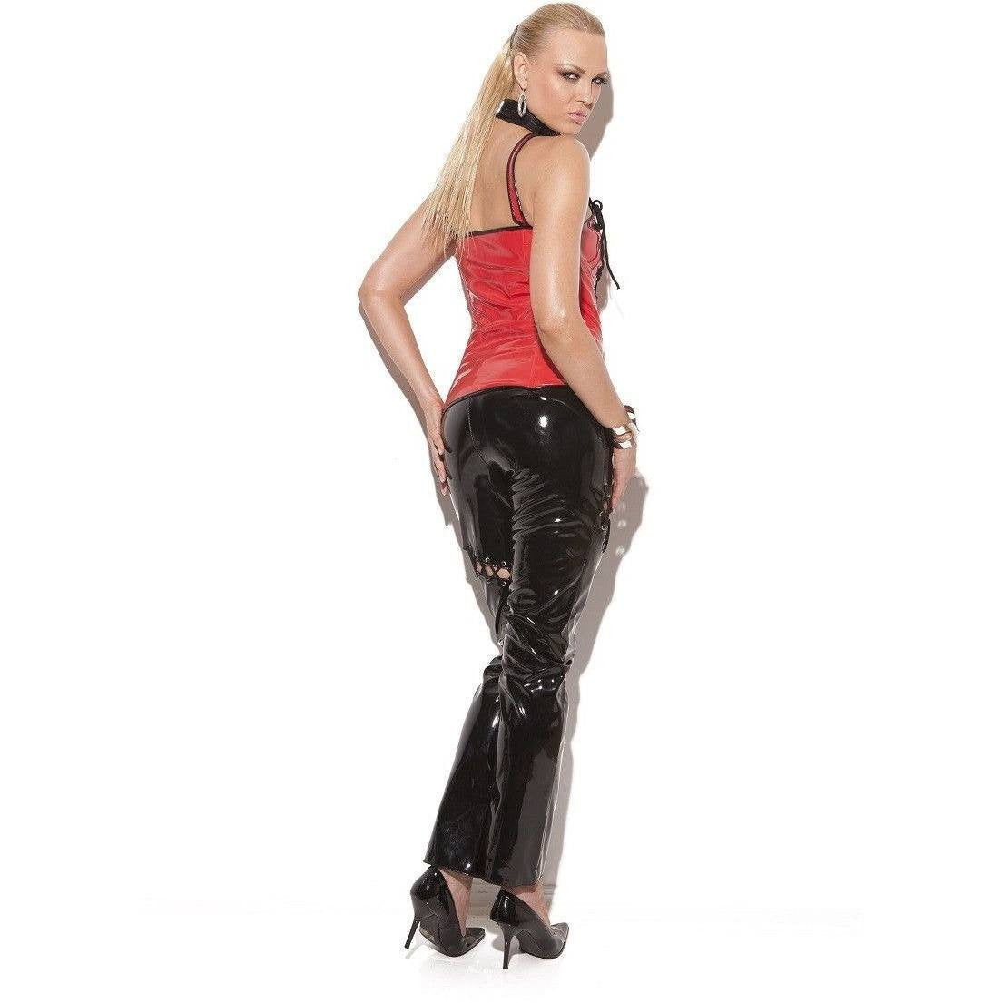 Vinyl black jean pants for <span class=money>€29.95 EUR</span> at Flirtywomen