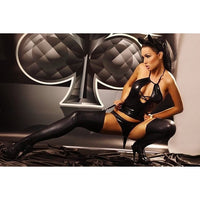 Wet Look Lingerie set - Flirtywomen