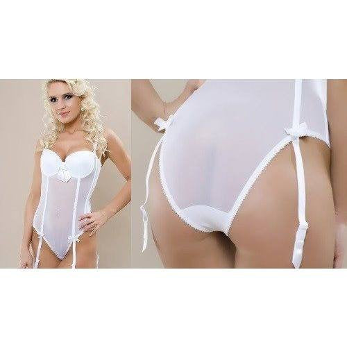 White lingerie bridal body for <span class=money>€39.95 EUR</span> at Flirtywomen