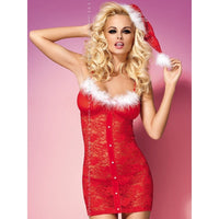 Xmas Nightdress With Hat - Xmas Nightdress With Hat