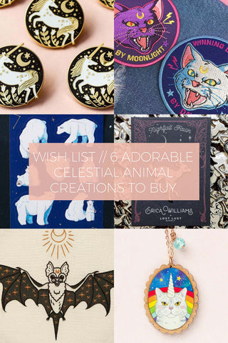 6 Adorable Celestial Animal Creations to Buy // Wish List