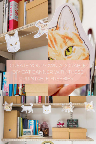 Create Your Own Adorable DIY Cat Banner with these Printable Freebies