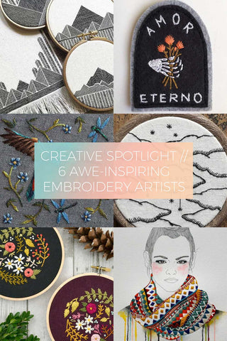 6 Awe-Inspiring Embroidery Artists // Creative Spotlight