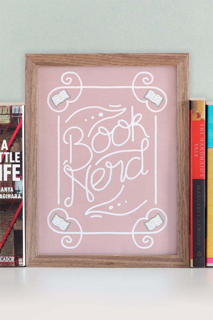 Book Nerd Illustrated Art Print // New in the Store