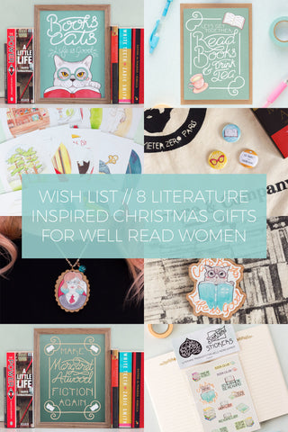 8 Literature Inspired Christmas Gifts for Well Read Women & Book Lovers // Wish List