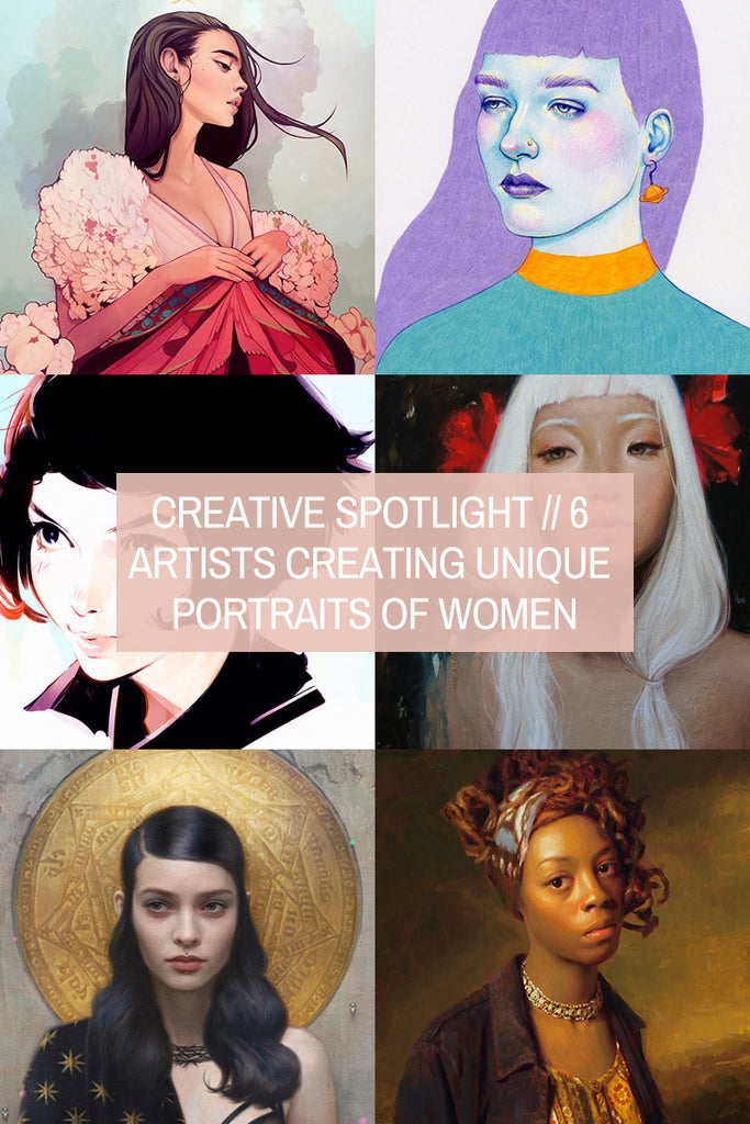 Creative Spotlight // 6 Illustrators and Artists Creating Unique Portraits of Women