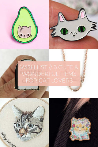 6 Cute and Wonderful Items for Cat Lovers // Wish List