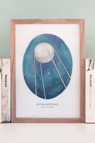 Watercolour Illustration of Haruki Murakami's Novel Sputnik Sweetheart