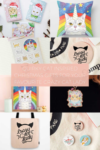 Quirky Cat Inspired Christmas Gifts for your Favourite Crazy Cat Lady // Wish List