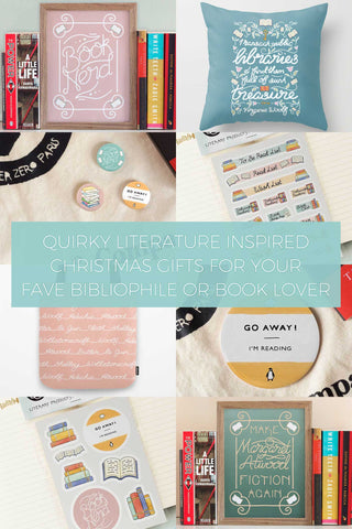 Quirky Literature Inspired Christmas Gifts for your Favourite Bibliophile or Book Lover // Wish List