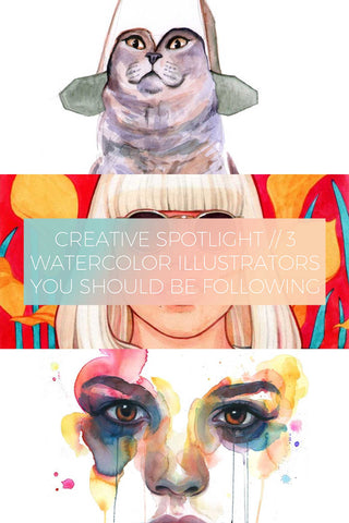 3 Watercolor Illustrators You Should Be Following // Creative Spotlight