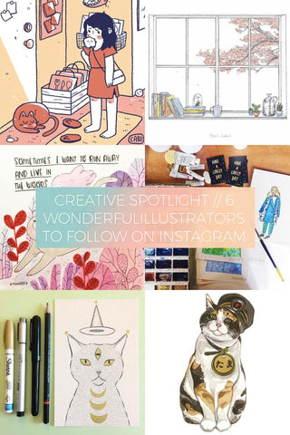6 Wonderful illustrators to Follow on Instagram // Creative Spotlight