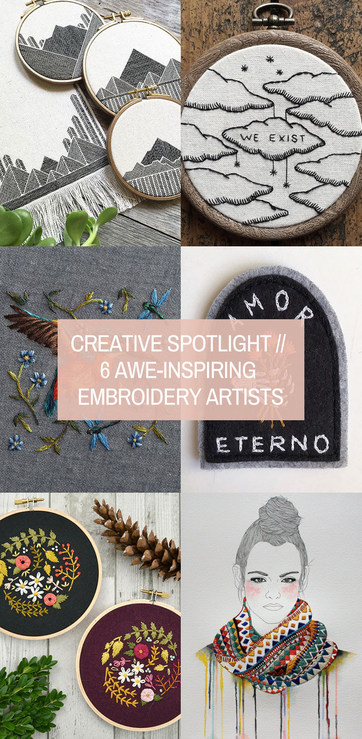 Creative Spotlight // 6 Awe-Inspiring Embroidery Artists