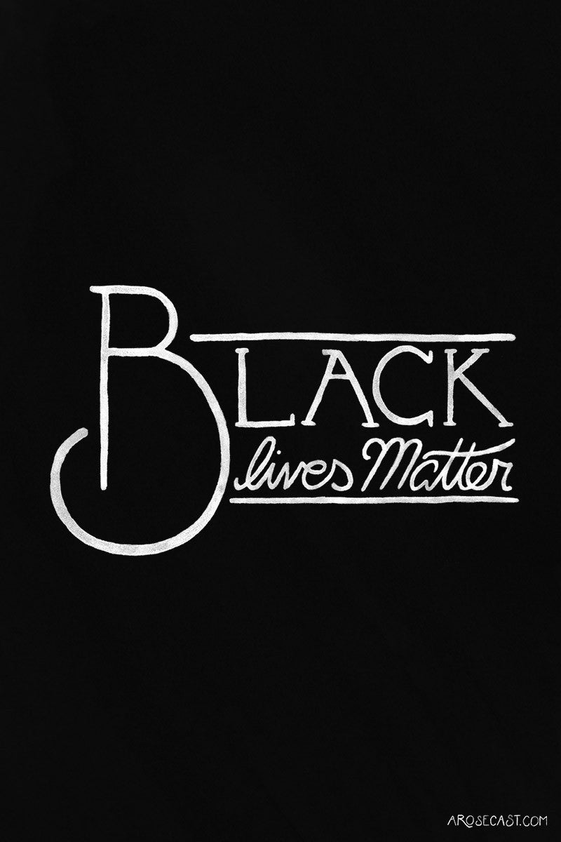 Black Lives Matter // Black and White Lettering/Calligraphy Freebie Wallpaper