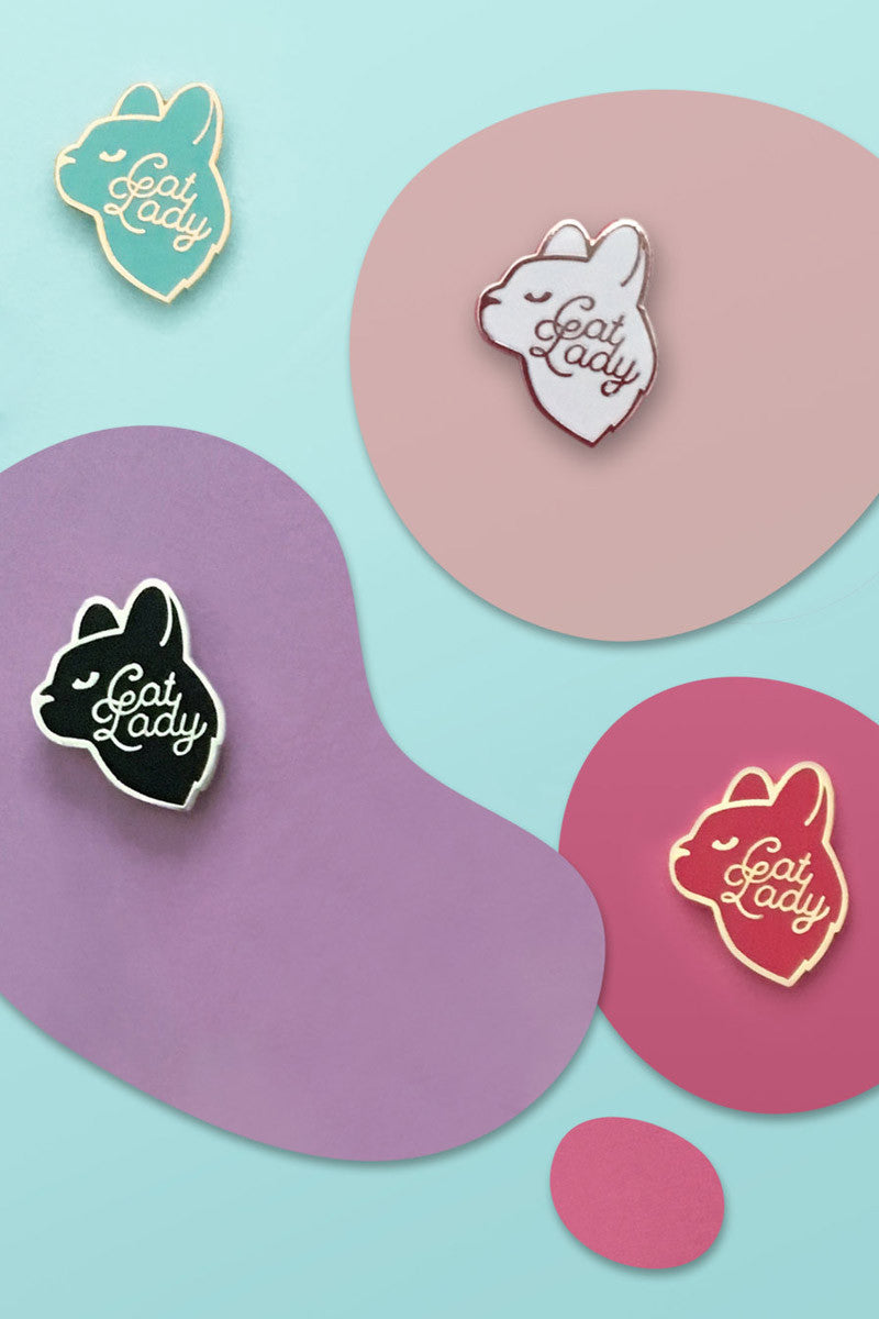 Cat Lady Enamel Pin by Frolik Studio