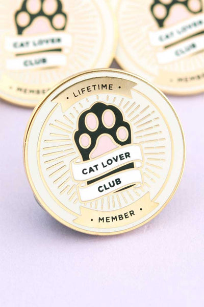 Cat Lover Club Enamel Pin